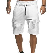 Men's Gym Gym Tracksuit Bottoms Joggers Shorts Pants Sweatpants Half Trousers