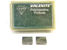2 NEW SURPLUS VALENITE SPG 422-2G VC728 PCBN INSERT