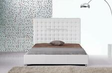 #4005 Gorgeous Modern Queen Size White PU Leather bed
