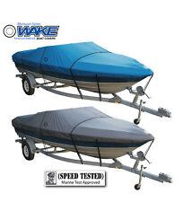 Wake Monsoon Premium Boat Cover Fits V hull Fishing boat 12-14 FT Blue