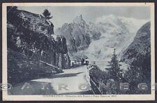 VALLE D'AOSTA COURMAYEUR 148 GHIACCIAIO - MONTE BIANCO Cartolina viaggiata 1932