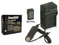 Battery + Charger for Panasonic DMCLX3 DMCLX3K DMC-LX3S DMC-FX8EG-P DMC-FX12K