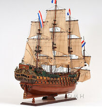 "Holland Frigate Friesland Wooden Model Tall Ship 37"" Sailboat New"