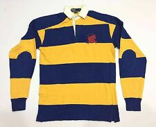 RARE VTG90s POLO RALPH LAUREN STRIPED RUGBY SHIRT LONG SLEEVE BLUE/YELLOW
