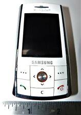 Samsung SGH D807 White Cingular Cellular Slider Phone no batt.