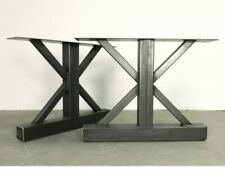 """Industrial table  legs.            28"""" tall x 30"""" wide.  set of 2."""