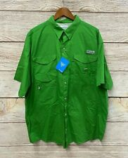 Columbia PFG Shirt Mens XL Oversized Green Bonehead SS Fishing Cotton Shirt New