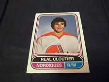 1975-76 OPC O-Pee-Chee WHA #16 Real Cloutier Quebec Nordiques - mint