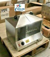 New Commercial Hot Dog Bun Steam Warmer Vending Counter Top Nsf Etl Fh-02
