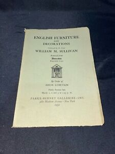 """Dunrobin"" Ridgefield, CT 1951 Parke-Bernet Auction Catalog ~ William M Sullivan"