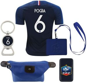 Nike France #6 Pogba 2018 Home Mens Rare Set Soccer Jersey Color Blue (X-Large)