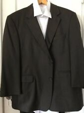 Stafford Suit Mens Medium Brown 100%   Lana Wool Size 46S