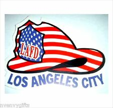 LAFD AMERICAN FLAG HELMET CAR WINDOW DECAL LOS ANGELES FIRE DEPARTMENT STICKER