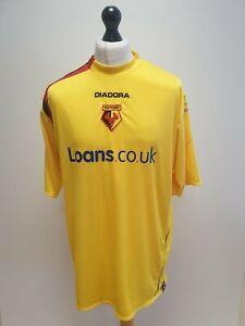 WATFORD FC YELLOW LOANS.CO.UK S/SLEEVE 05-06 HOME FOOTBALL SHIRT UK XL EU 54