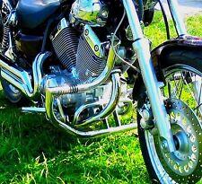 STAINLESS STEEL CUSTOM CRASH BAR ENGINE GUARD + FOOT PEGS YAMAHA XV 535 VIRAGO