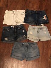 lot of 5 girls Name Brand shorts size 14 Abercrombie Kids DKNY Mudd Roebuck
