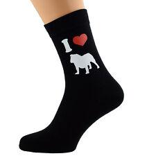 Me encanta Bulldogs Diseño Calcetines para hombre Bulldog propietarios UK Size 5-12 X6N080