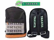 JDM Bride Racing Backpack with Racing Harness Shoulder Straps Super Cool BL/BR