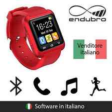 endubro SMART WATCH U-WATCH BLUETOOTH TOUCHSCREEN ANDROID E IOS - ROSSO