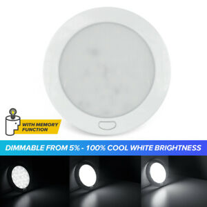"""Dimmable Cool W 5"""" LED Ceiling Light RV Caravan Boat Interior Light Switched 12V"""