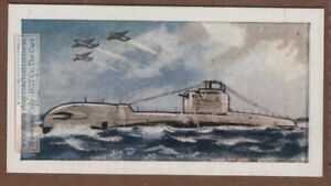 "British Royal Navy ""T"" Class Submarine Vintage Trade Card"