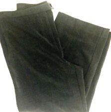 JM Collection Petite Womens Pants sz 8 Gray Trouser Career Classic wide leg P42