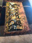 "Antique 40"" Middle East Bedouin Desert Bazaar Trading Market Woven Art Tapestry"