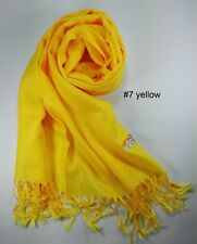 New Scarf Women Yellow Wrap Shawl Tassel Long Lady Girl Winter Solid Pure Color