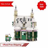 MOC Harry Potter Honeydukes Sweet Shop Model Building Block Bricks Assemble Toys