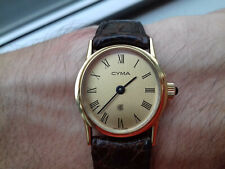 Cyma GOLD DIAL CY/1 WOMAN VINTAGE COLLECTION NOS COLLECTORS MECHANICAL WATCH UHR
