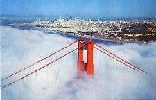 postcard USA California  the Golden Gate Bridge  San Francisco posted
