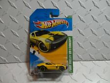 2012 Hot Wheels Treasure Hunt #61 Yellow Ford Shelby GR-1 Concept w/PR5 Spokes