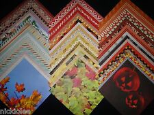 12x12 Scrapbook Paper DCWV Fall Halloween Stack Spooky Autumn Pumpkins 60 Lot