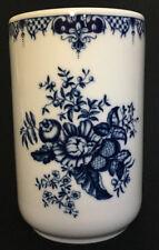 Royal Worcester Hanbury Vase Storage Jar Canister NO LID Blue White Flowers