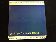 VINTAGE 1971 BROOKES & GATEHOUSE, LTD YACHT PERFORMANCE TABLES