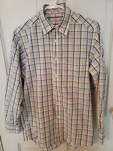 Izod Men's Plaid Button Down Long Sleeved Shirt Size 15 1/2 Regular Fit