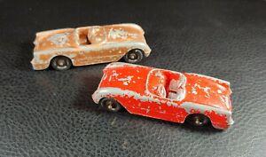 Two Vintage TootsieToy Corvette Convertibles