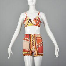 Xs 1960s Emilio Pucci Formfit Rogers Bra Girdle Set Bohemian Lingerie Orange 60s