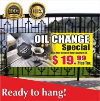 Oil Change Banner Vinyl / Mesh Banner Sign Auto Repair Shop Service Many Sizes