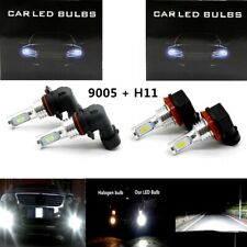 4x 9005 H11 CSP LED Headlights Bulbs Kit White 100W High Low Beam Super Bright