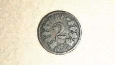 New listing 1876 Norway 2 Ore Coin Oscar Ii Bronze Coin
