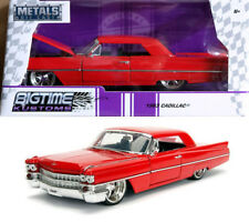 1963 Cadillac Coupe DeVille Rot Red 1:24 Jada Toys 99551