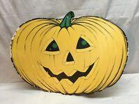 Beistle Halloween Pumpkin 24 inch Die Paper Cutout Decoration 1973 Double sided