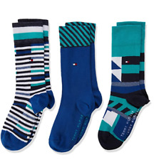 TOMMY HILFIGER - KIDS SOCKS - BLUE/GREEN (3PACK)