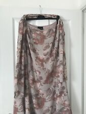 Jacques Vert Ladies UK 18 Pink floral lined long skirt With Scarf.