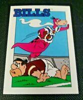 1993 CARDZ Team NFL The Flintstones Buffalo Bills Schedule football card