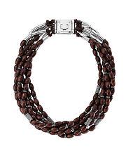 Michael Kors Safari Glam Torsade Necklace Ebony/ Silver MKJ1586 BNWT $350