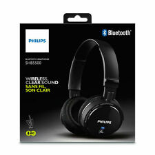 Philips SHB5500 Wireless Bluetooth On Ear stereo Headphones Headsets Noir