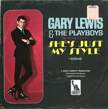 """Gary Lewis & The Playboys-She's Just My Style-w/PS-45 RPM-7""""-single-pop-vinyl"""
