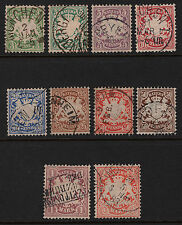 OPC 1876 Germany Bavaria Set Sc#38-47 Wmk 94 Mi Wmk 2 Used Sound VF 26273